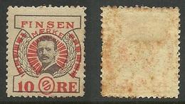 DENMARK Old Vignette Advertising Poster Stamp Finsen Maerke 10 Öre * NB! Stain! - Cinderellas