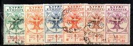 ETP215 - ETIOPIA 1951 , Serie Yvert  N. 302/307 Usato. Croce Rossa - Etiopia