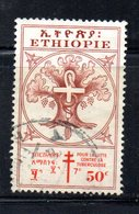 ETP231d - ETIOPIA 1951 , Yvert  N. 306 Usato. Croce Rossa - Etiopia