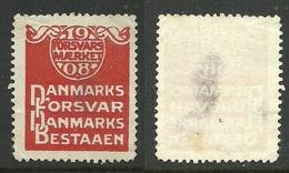 DENMARK 1908 Vignette Advertising Poster Stamp NB! Thin Places !! - Cinderellas