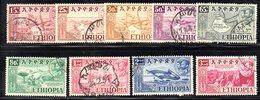 ETP217 - ETIOPIA 1952 , Serie Yvert  N. 315/323 Usato. - Etiopia