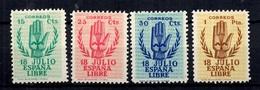 Espagne YT N° 636/639 Neufs *. B/TB. A Saisir! - 1931-50 Nuevos & Fijasellos