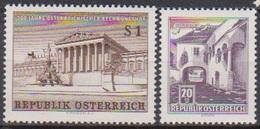 Österreich 1961 Nr.1101 - 1102 ** Postfr. 200 Jahre Österreichischer Rechnungshof, Bauwerke  ( 8847 )günstige Versandkos - 1961-70 Nuevos & Fijasellos