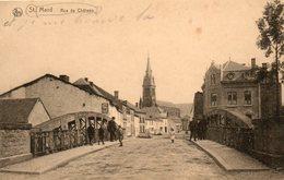 Belgique. CPA. SAINT MARD. VIRTON.  Rue Du Chateau. 1919. - Virton