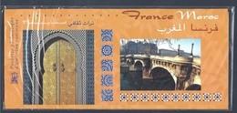 Pochette Philatélique D'émission Commune 2001 FRANCE - MAROC Neuve Sous Blister ** - Blocs Souvenir
