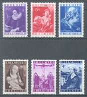 BELGIUM - MNH/*** LUXE - 1949 - JORDAENS VAN DER WEYDEN  - COB  792-797 -  Lot 19982 - Belgien