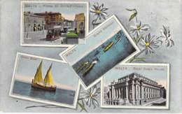 MALTA Malte - Multiview Multivues - CPA Colorisée (1/2) Postée 1915 - - Malta