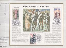 = Histoire De France Paris 7.10.72 N1729 Incroyables Et Merveilleuses 11.11.72 N1730, 1731 Bonaparte Encart Jour - Francia
