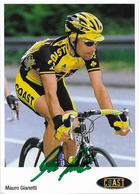 CARTE CYCLISME MAURO GIANETTI SIGNEE TEAM COAST 2001 2ª SERIE - Cycling