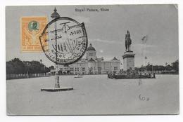 SIAM  - 1924 - CARTE Avec SUPERBES CACHETS De POSTE AERIENNE RECTO Et VERSO (DIFFERENTS) NACOR RAJASAMA => UBOL - Siam