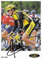 CARTE CYCLISME ALEX ZULLE SIGNEE TEAM COAST 2001 2ª SERIE - Cycling