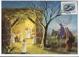 25.12.1955  -  AN DER KRIPPE  -  HANNES PETERSEN - Maximum Cards