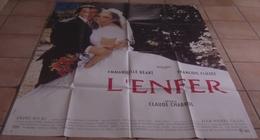 AFFICHE CINEMA ORIGINALE FILM L'ENFER CHABROL CLUZET BEART CASSEL 1994 TBE - Affiches & Posters