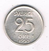25 ORE  1953  ZWEDEN /5578/ - Suède