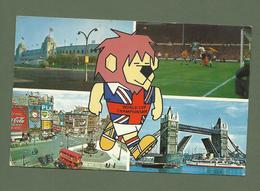 CARTE POSTALE POSTCARD INTERNATIONAL FOOTBALL MATCH AT WEMBLEY FOOTBALL ASSOCIATION 1966 - England