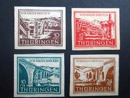 """SBZ 112/15** Thuringen """"Wir Bauen Brucken"""" Sovjetzone 1946 - Soviet Zone"""