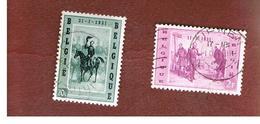 BELGIO (BELGIUM)   - SG 1612.1613  -   1957 ARRIVAL OF KING LEOPOLD I   (COMPLET SET OF 2)  - USED - Belgium