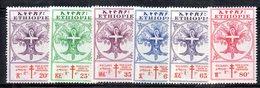 ETP234 - ETIOPIA 1958 , Serie  Yvert  N. 343/348 *  Linguella . Croce Rossa - Etiopia