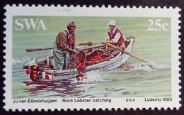 Sud Ouest Africain SWA 1983 Animal Langouste Lobster Pêche Fishing Bateau Boat Yvert 504 ** MNH - Zuidwest-Afrika (1923-1990)
