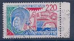 FRANCE - 2556A . THERMALISME CHIFFRES ROUGES OBL USED BEAUCOUP PLUS RARE EN OBL QU'EN NEUF - COTE 600 EUR - Curiosités: 1980-89 Oblitérés