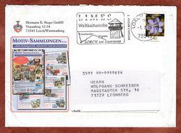 Infopost Mit Inhalt, Leberbluemchen, Absenderstempel Limes 151 Lorch, 2008 (76862) - Covers & Documents
