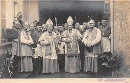 """¤¤   -   EVREUX  - Carte-Photo -  Monseigneur """" CAUDRON """" à Droite  -  Religion , Religieux  -  ¤¤ - Evreux"""