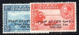 ETP261b - ETIOPIA 1960 , Serie  Yvert  N. 352/353  *  Linguella . Rifugiato - Etiopia
