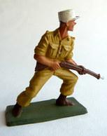 SOLDAT FIGURINE FIG STARLUX 1958 SOLDAT LEGIONNAIRE 5090 CHARGEANT Socle Vert Kaki - Starlux