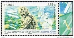 France N° PA  76 A ** Poste Aérienne - Adolphe Pegoud -> Centenaire Du Premier Saut En Parachute - 1960-.... Nuevos