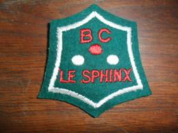 ECUSSON  FEUTRE  BRODE   /  B.C  LE SPHINX - Ecussons Tissu
