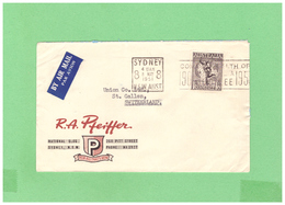 1948 AUSTRALIA AIR MAIL ADVERTISING COUVERT WITH 1 STAMP TO SWISS - 1913-48 Kangaroos