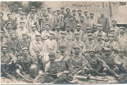 CARTE PHOTO MILITAIRE - MUSIQUE DU 322 EME (1915) - Regiments