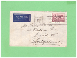 1934/1948 AUSTRALIA AIR MAIL COUVERT WITH 1 STAMP TO SWISS - 1913-48 Kangaroos