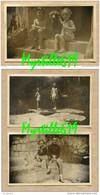 Lot 3 Photos Enfants Vietnam - Dalat  1949 - Saïgon 1948 - Sépia - Persone Anonimi