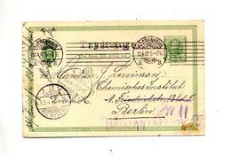 Carte Postale 5 C Roi  Flamme Muette Copenhagen + Berlin - Postal Stationery