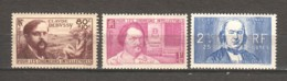 France 1940 Mi 475-477 MLH - Unused Stamps