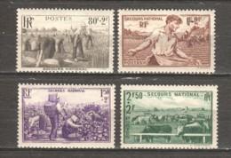 France 1940 Mi 496-499 MNH - Frankreich