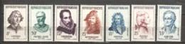France 1957 Mi 1167-1173 MNH - Unused Stamps