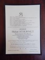 Faire Part De Décès Mr Hubert Stiernet - Waremme 1863 - Bruxelles 1939 - Décès