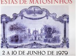PORTUGAL- MATOSINHOS- CARTAZ DAS FESTAS SENHOR DE MATOSINHOS- 1979 - Afiches