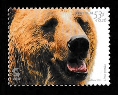 PORTUGAL 2001 Lisbon Zoo/Brown Bear: Single Stamp UM/MNH - 1910-... Republic