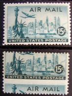 USA Error Statue Of Liberty  Major Perf Shift Error Mnh - Errors, Freaks & Oddities (EFOs)