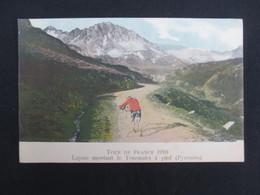 CARTE POSTALE CYCLISME (V1901) TOUR DE FRANCE 1910 (2 Vues) LAPIZE Montant Le Tourmalet à Pied (Pyrénées) - Cycling