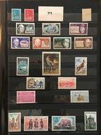 FRANCE Année Complète 1971 - YT N° 1663 à 1701 (+1664b) - 40 Timbres Neufs Sans Charnière - France