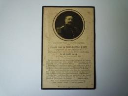 2019 - 1837  FAIRE-PART De Décès Du Vicomte Jean De ST-MARTIN LA CAZE  Capitaine Au 57è D'Infanterie  (Guise 1914)  - Obituary Notices