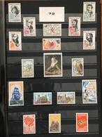 FRANCE Année Complète 1972 - YT N° 1702 à 1736 - 35 Timbres Neufs Sans Charnière - France