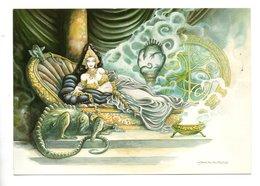 "ILLUSTRATEUR . P. MOGUÉROU . "" MORGANE L'ENSORCELEUSE "" . MYTHES ET LÉGENDE DE BRETAGNE - Réf. N°22828 - - Illustratoren & Fotografen"
