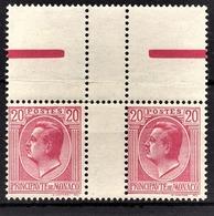 MONACO 1924 / 1933 - PAIRE Y.T.  N° 79  - NEUFS** - Monaco