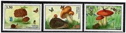 Tajikistan.2019 Mushrooms(Butterflies,Hedgehog,Frog).3v:3.50,4.20,5.80 - Tadschikistan
