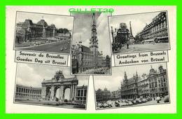 BRUXELLES, BELGIQUE - MULTI-VUES SOUVENIR DE BRUXELLES - EDITIONS PONILUX - - Multi-vues, Vues Panoramiques